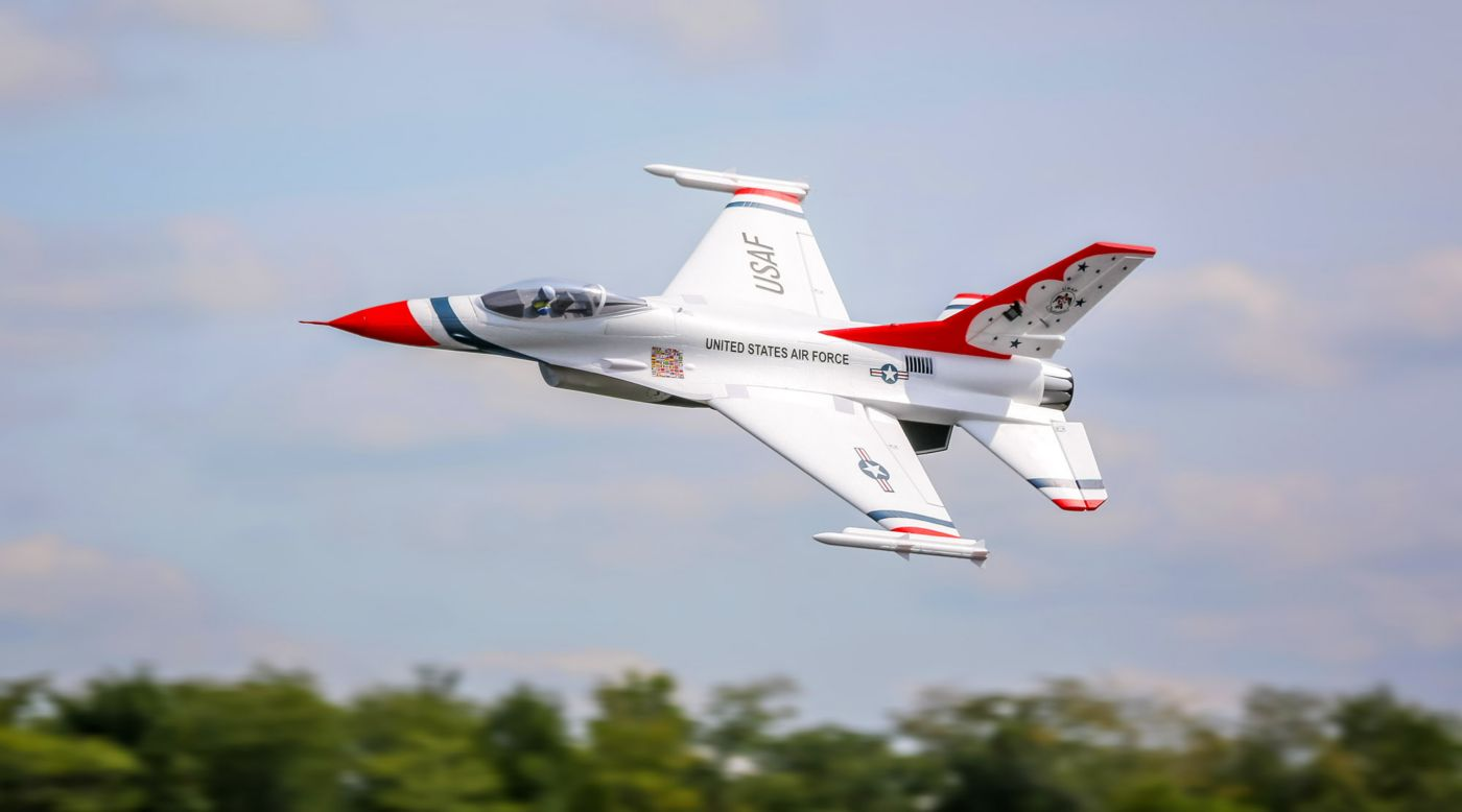 E-flite EFL7850 - F-16 Thunderbirds 70mm EDF BNF Basic with AS3X and SAFE Select
