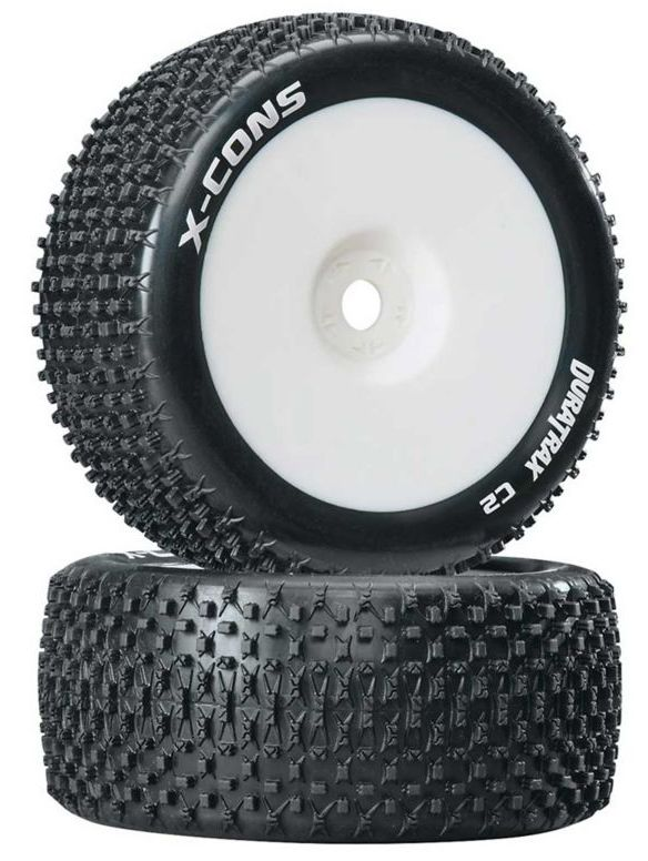 Duratrax DTXC3660 - X-Cons 1/8 Mounted C2 Truggy Tires