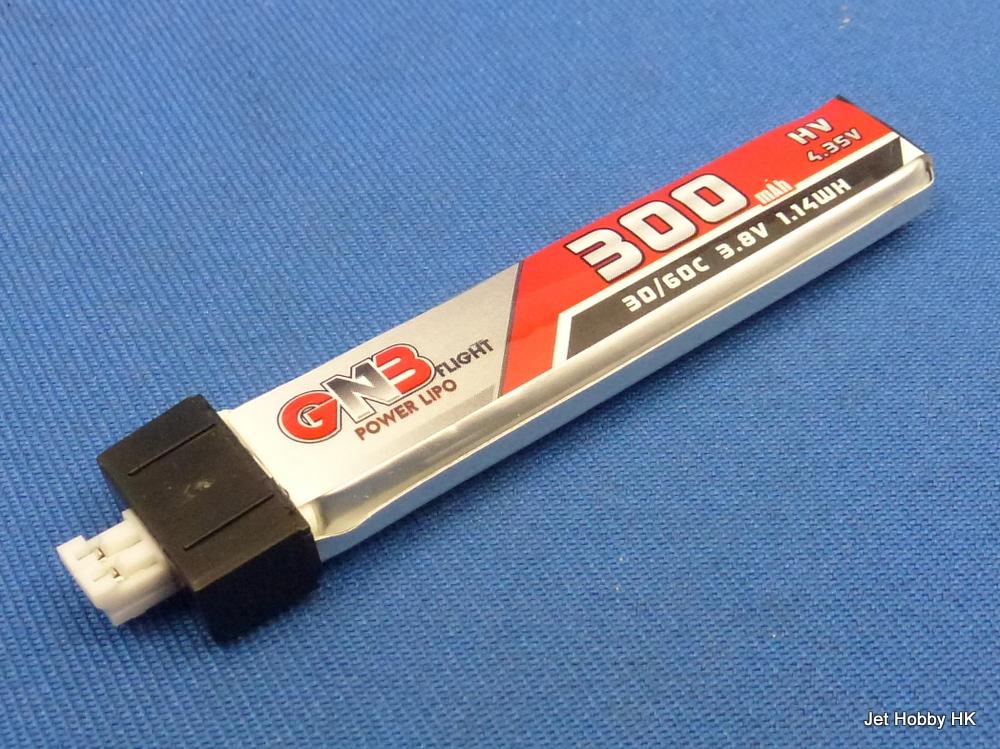 GN3 300-1S-30/60C - High Voltage 1S Li-Po Battery 300mAh 3.8V3