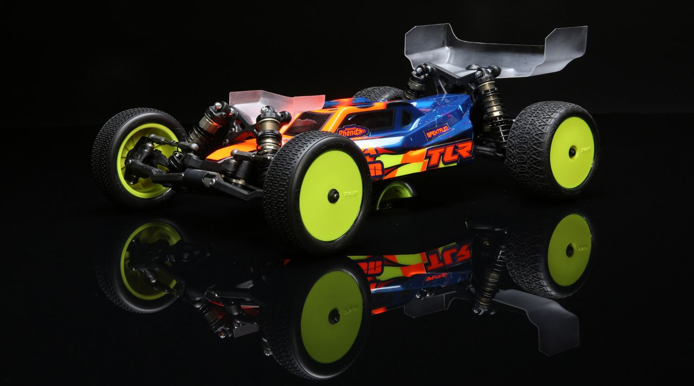 TLR TLR03016 - 1/10 22 5.0 2WD Buggy DC Race Kit, Dirt/Clay