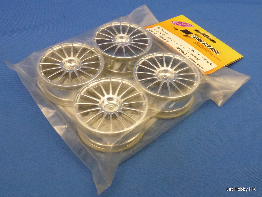 Ride RH-115  - 24mm 16-spoke wheel, 4 pcs , Chrome
