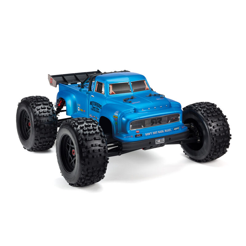 ARRMA 106044T1 - 1/8 NOTORIOUS 6S BLX 4WD Brushless Classic Stunt Truck RTR, Black
