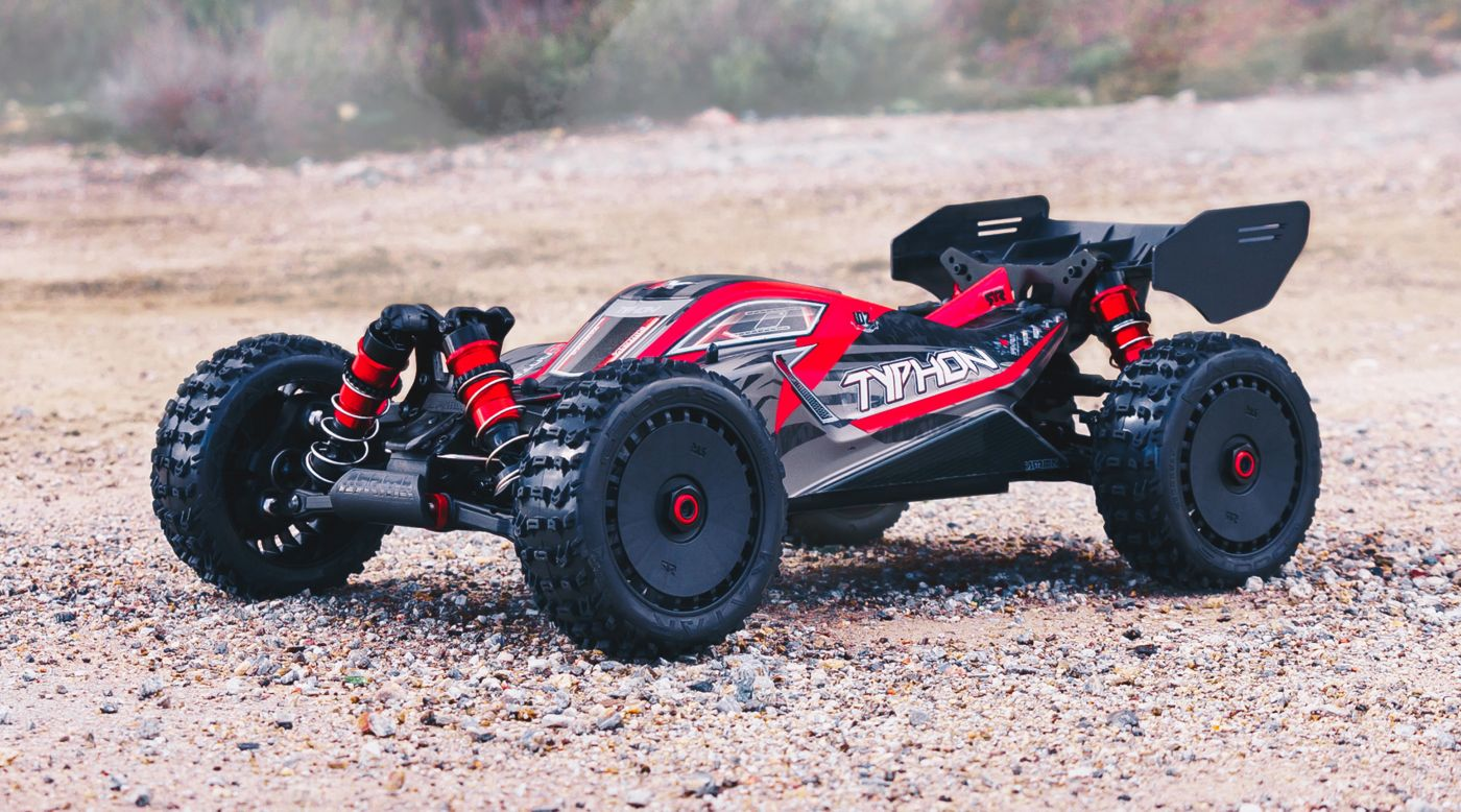 ARRMA 106046 - 1/8 TYPHON 6S BLX 4WD Brushless Buggy RTR, Red/Grey