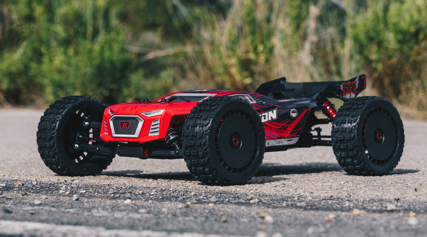 ARRMA 106048 - 1/8 TALION 6S BLX 4WD Brushless Sport Performance Truggy RTR, Red/Black