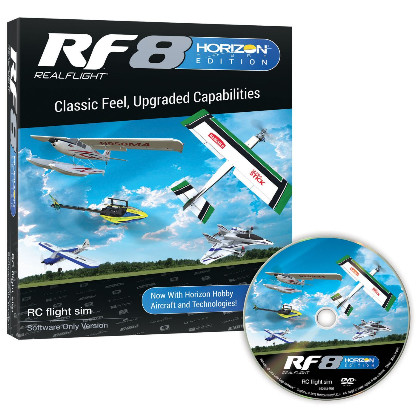 Real Flight RFL1001 - RF8 Horizon Hobby Edition, Software Only