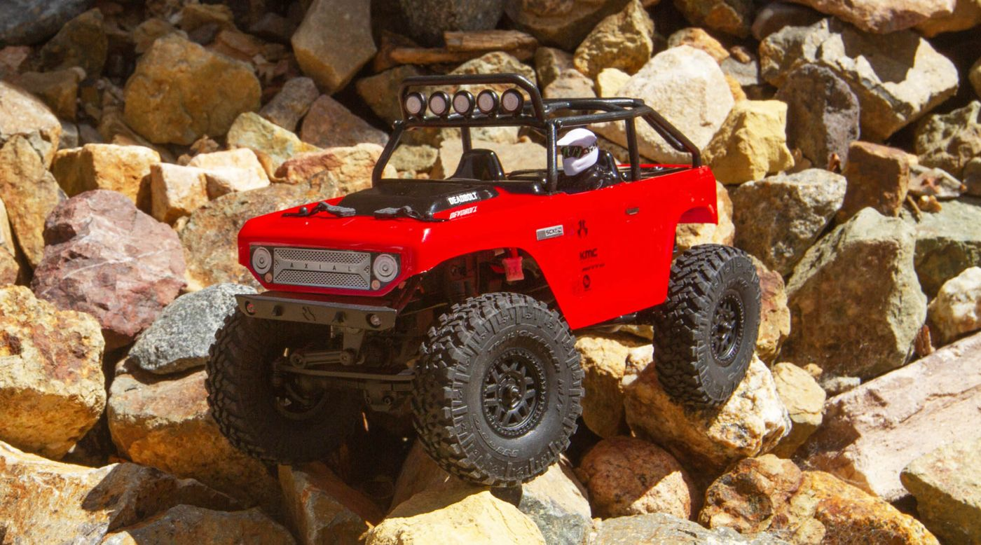 Axial 90081T1 - 1/24 SCX24 Deadbolt 4WD Rock Crawler Brushed RTR, Red