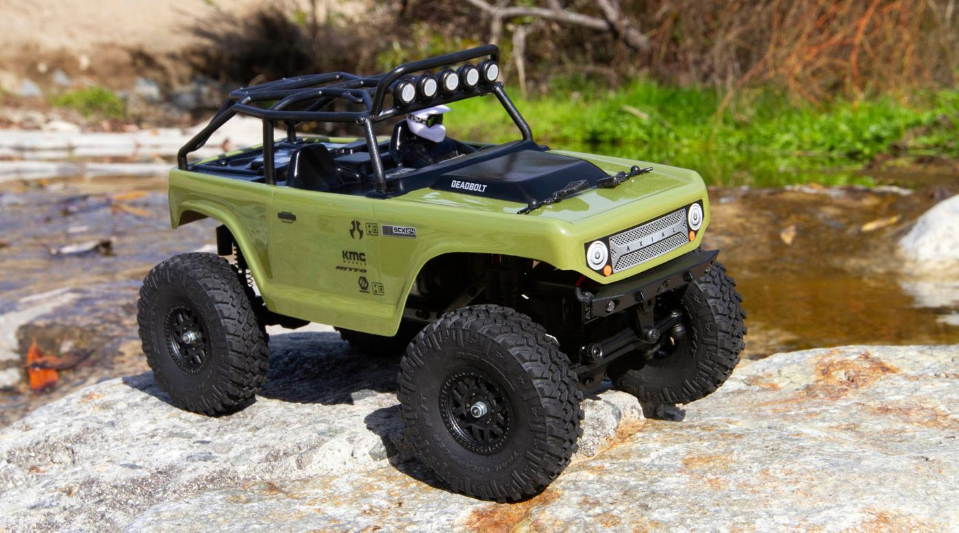 Axial 90081T2 - 1/24 SCX24 Deadbolt 4WD Rock Crawler Brushed RTR, Green