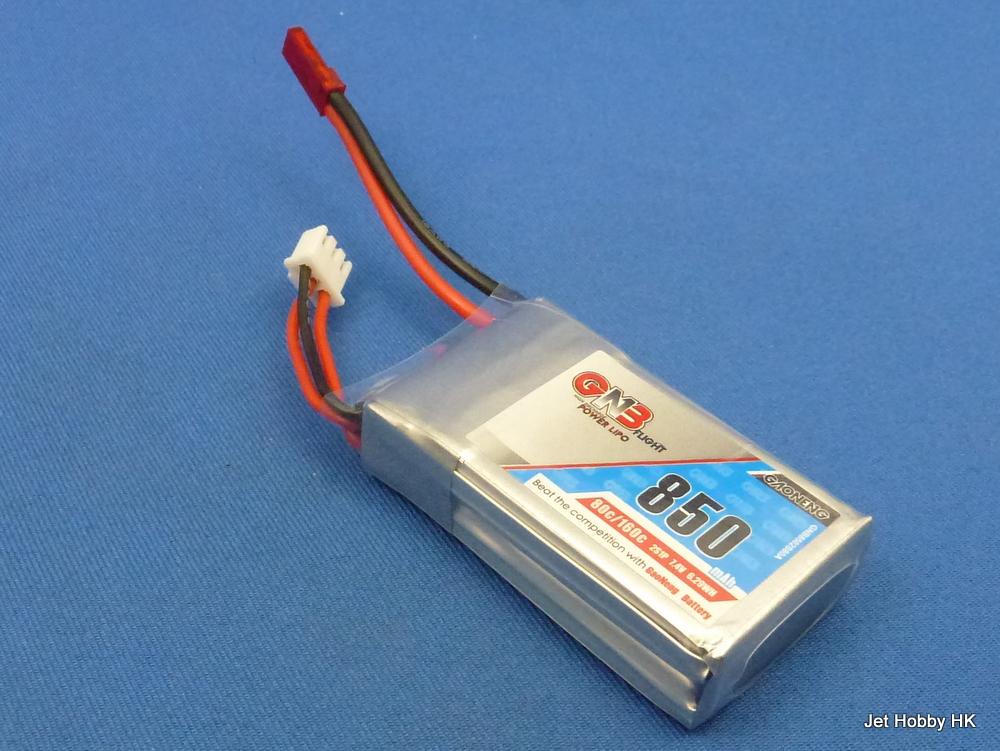 GNB 850-2S-80C-JST - 850mAh 7.4V Lipo Battery JST Plug