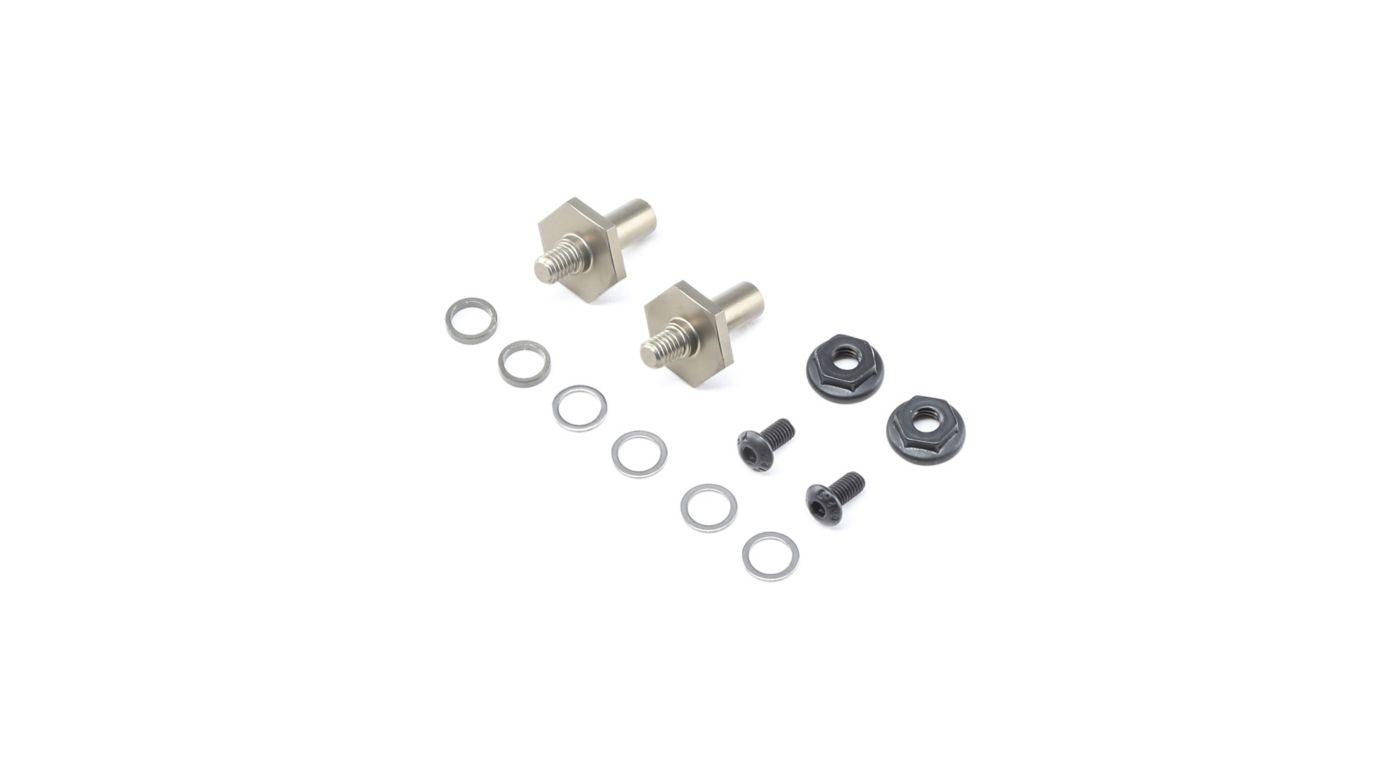 TLR 232070 - Front Axle Set Aluminum 1mm Adj 12mm Hex (22 4.0)