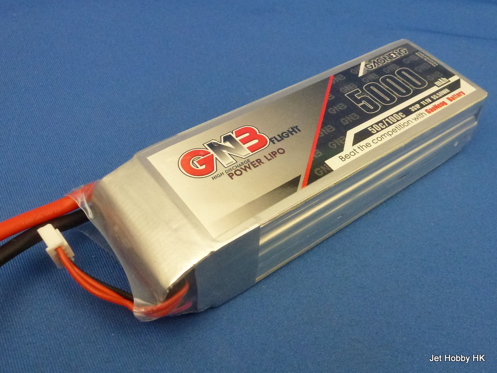 GNB 5000-3S-50C - Lipo Battery 5000mAh 11.1V 50C Soft Pack