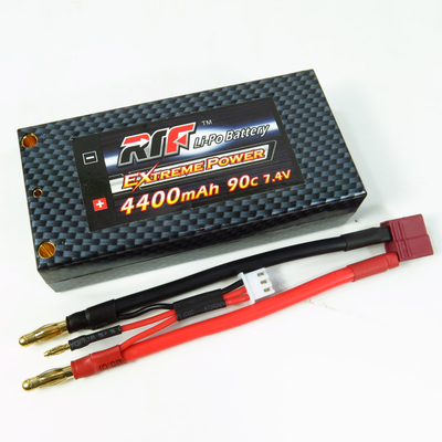 RTF 4400-2S-90C - Lipo Battery 4400mAh 7.4V 90C Hard Case Shorty