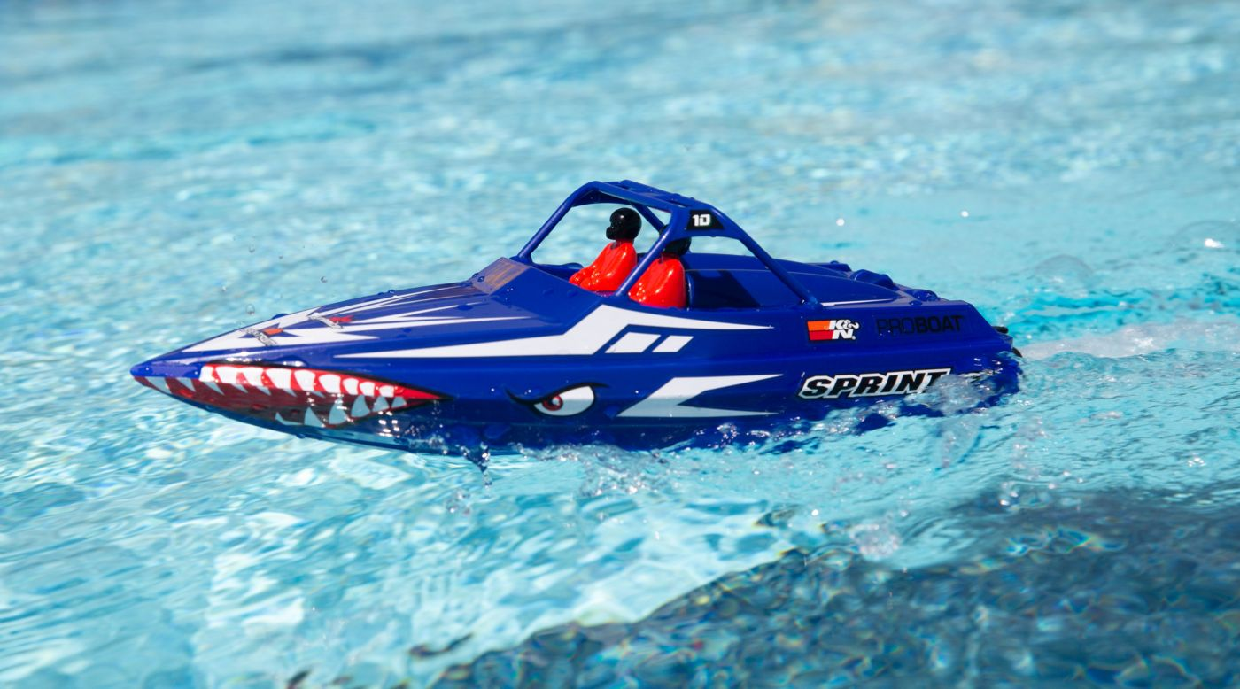 ProBoat PRB08045T2 - Sprintjet 9 inches Self-Righting Jet Boat Brushed RTR, Blue