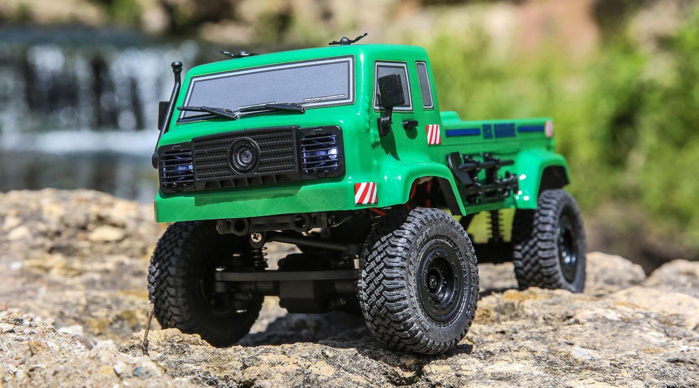 ECX ECX00018T1 - 1/24 Barrage UV 4WD Scaler Crawler RTR FPV, Green