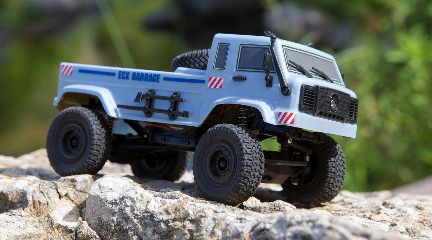 ECX ECX00018T2 - 1/24 Barrage UV 4WD Scaler Crawler RTR FPV, Grey