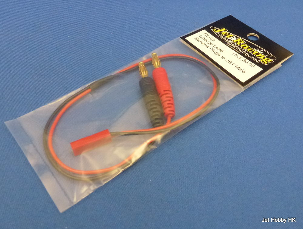 Jet Racing CL-02 - Charge Lead, Banana Plugs ~ JST