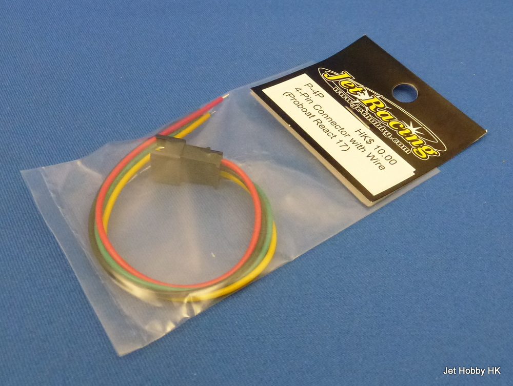 Jet Racing P-4P - 2-Pin Plug with Wire (Proboat React 17)