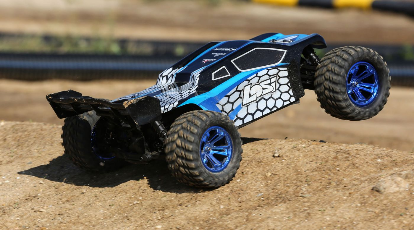 Losi LOS03011T2 - 1/10 TENACITY-T 4WD Truggy Brushless RTR with AVC, Blue/Black