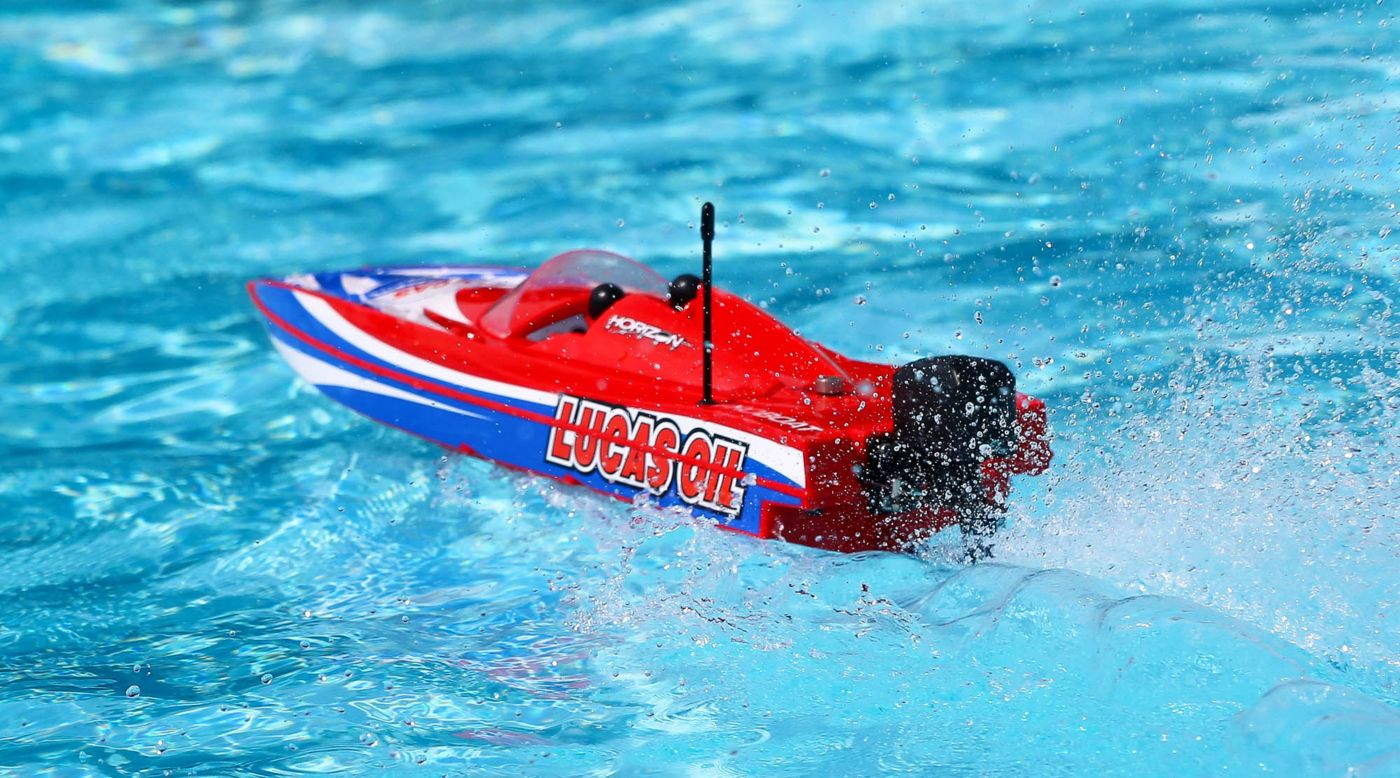 Proboat PRB08044T2 - 17-inches Power Boat Racer Deep-V RTR, Lucas Oil