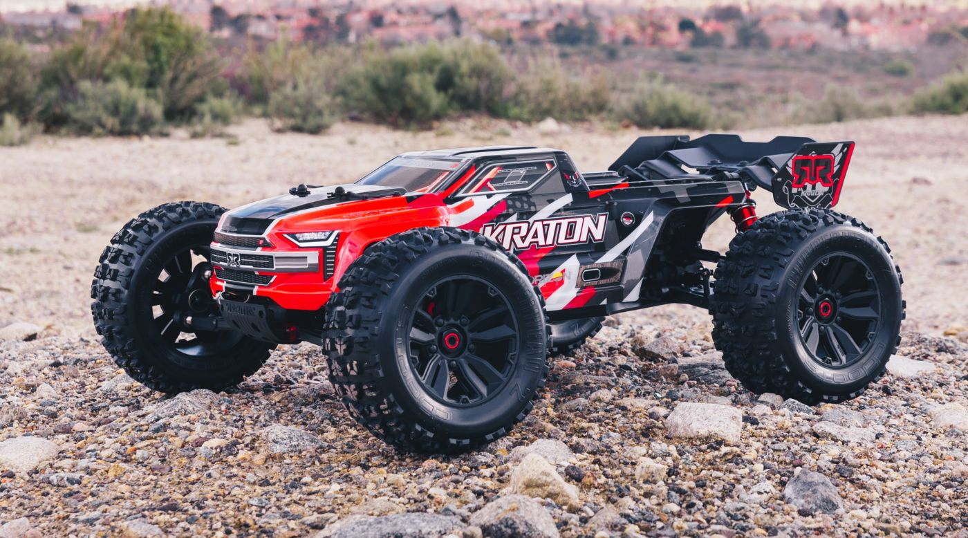 Arrma ARA106040T1 - 1/8 KRATON 6S BLX 4WD Brushless Speed Monster Truck with Spektrum RTR, Red