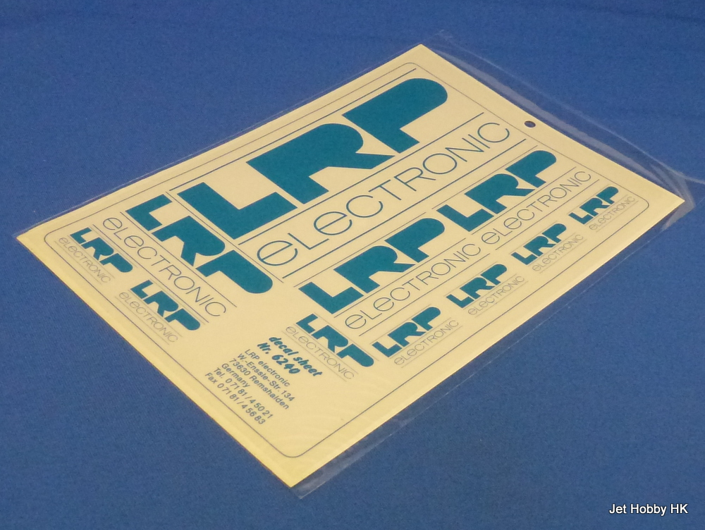 LRP Decal - LRP Logo Decal Blue 14x21.5cm