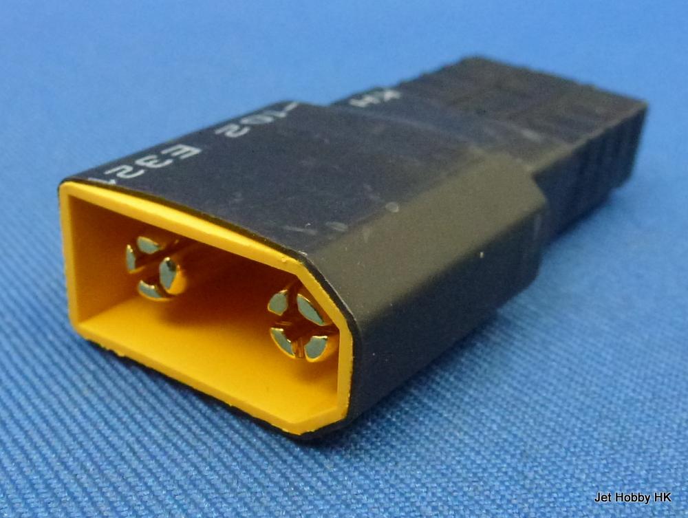 Jet Racing BA-10 - Battery Adapter, XT90 Male ~ Traxxas Female