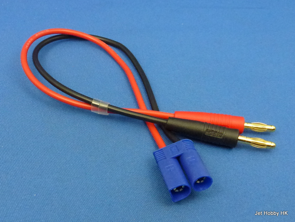 Jet Racing CL-05 - Charge Lead, 30mm 14 Gauge Silicone Wire, EC-05