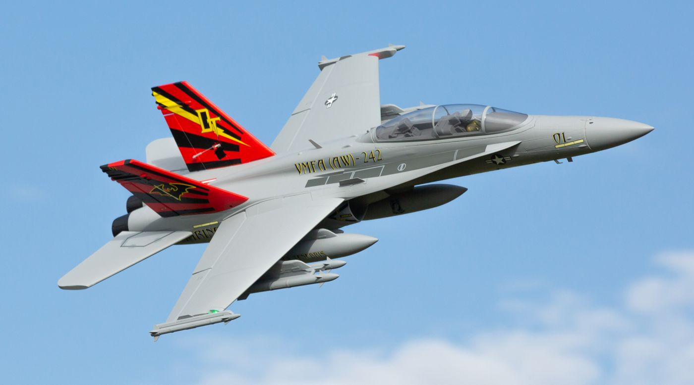 E-flite EFL3950 - F-18 Hornet 80mm EDF BNF Basic with AS3X and SAFE Select