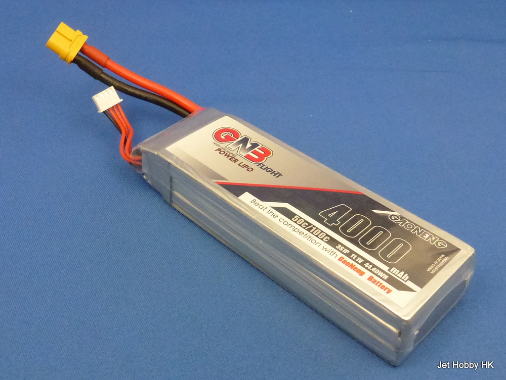 GNB 4000-3S-50C/100C-XT60 - 4000mAh LiPo Battery 11.1V Soft Pack XT60