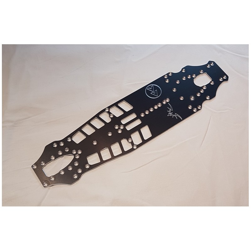 Fenix OPT059 - Fast Forward FWD chassis conversion - Associated TC 7.2 - 2mm 7075 Chassis