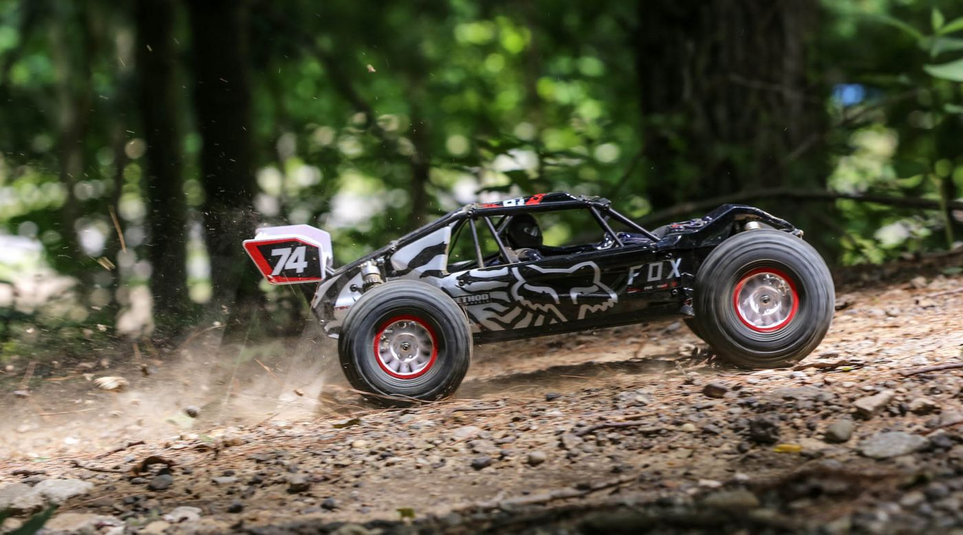 Losi LOS03027T2 - 1/10 Tenacity DB Pro 4WD Desert Buggy Brushless RTR with Smart, Fox Racing