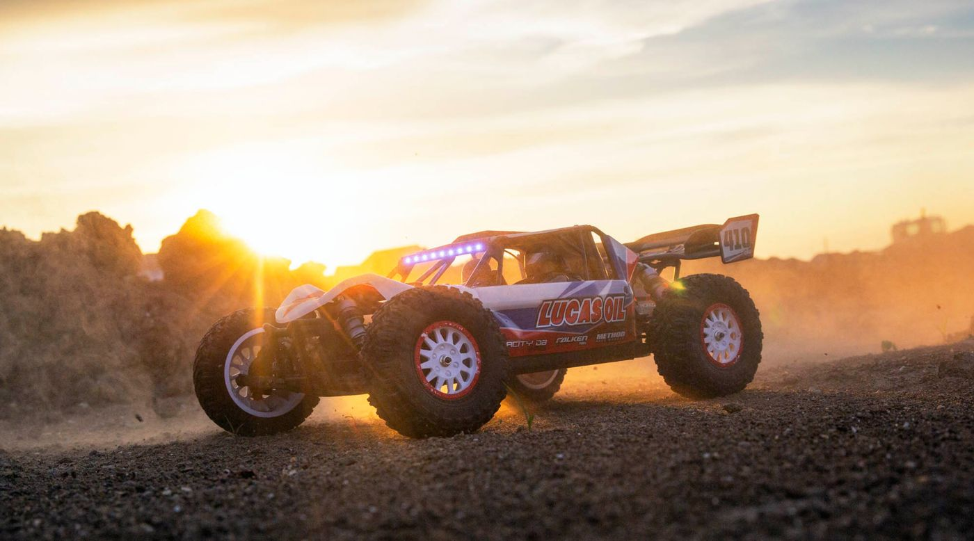 Losi LOS03027T1 - 1/10 Tenacity DB Pro 4WD Desert Buggy Brushless RTR with Smart, Lucas Oil