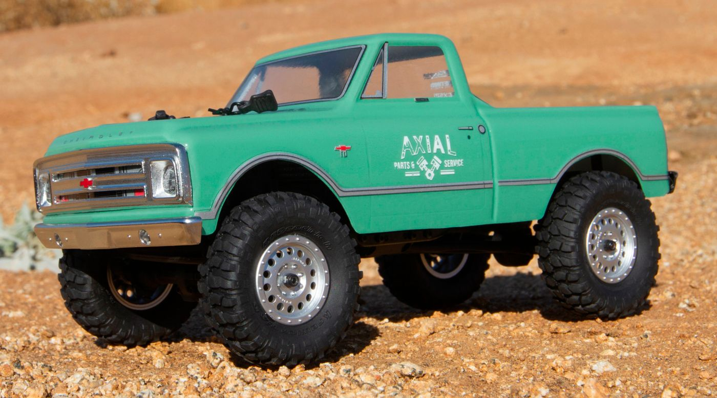 Axial AXI00001T1 - 1/24 SCX24 1967 Chevrolet C10 4WD Truck Brushed RTR, Green