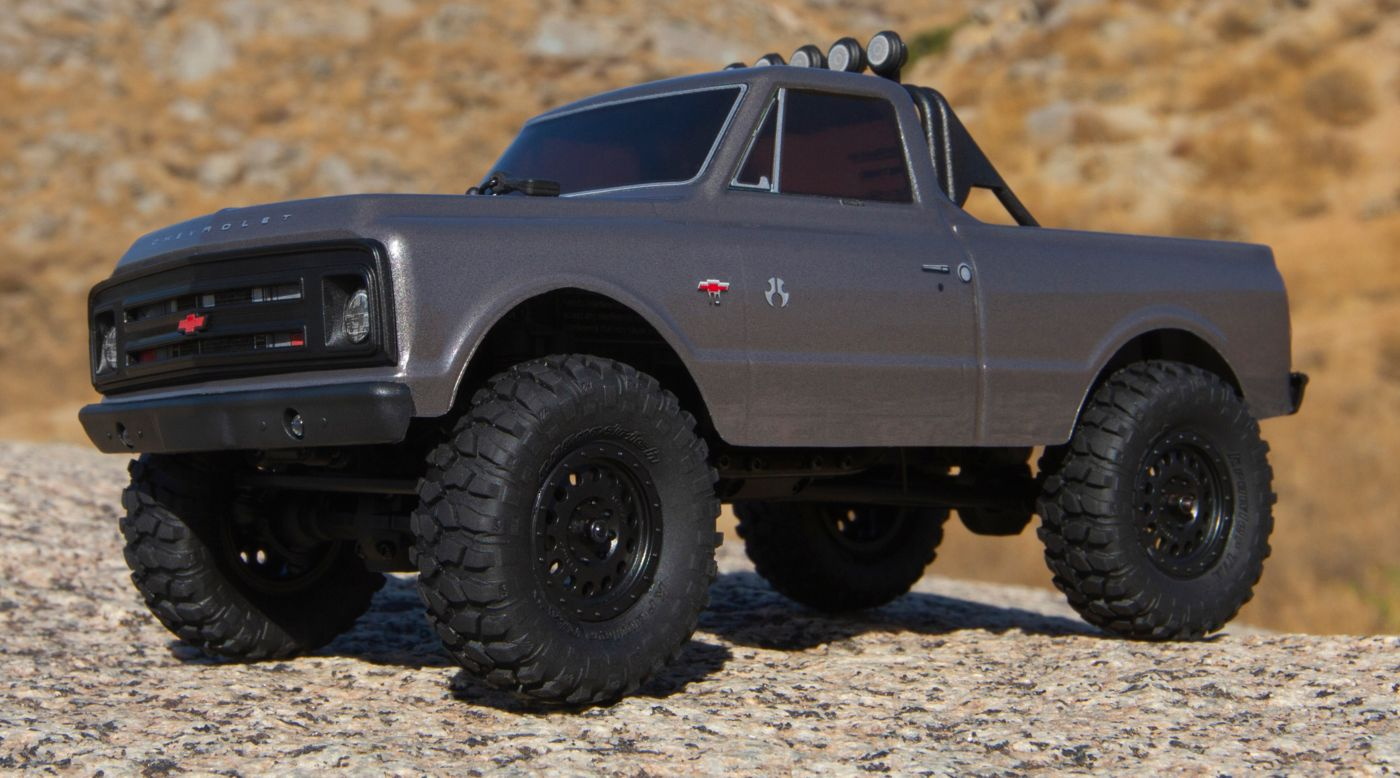 Axial AXI00001T2 - 1/24 SCX24 1967 Chevrolet C10 4WD Truck Brushed RTR, Silver