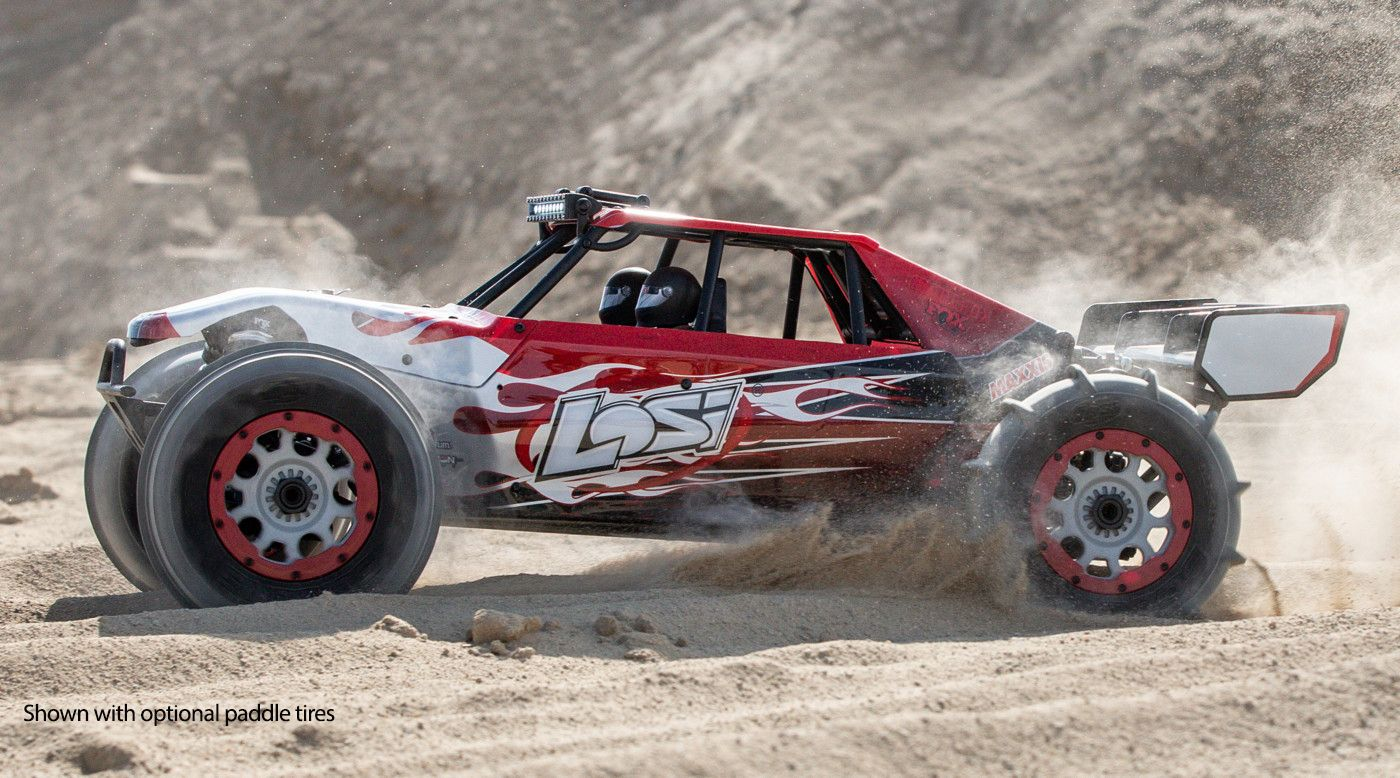 Losi LOS05020T2 - 1/5 DBXL-E 2.0 4WD Desert Buggy Brushless RTR with Smart, Losi Body