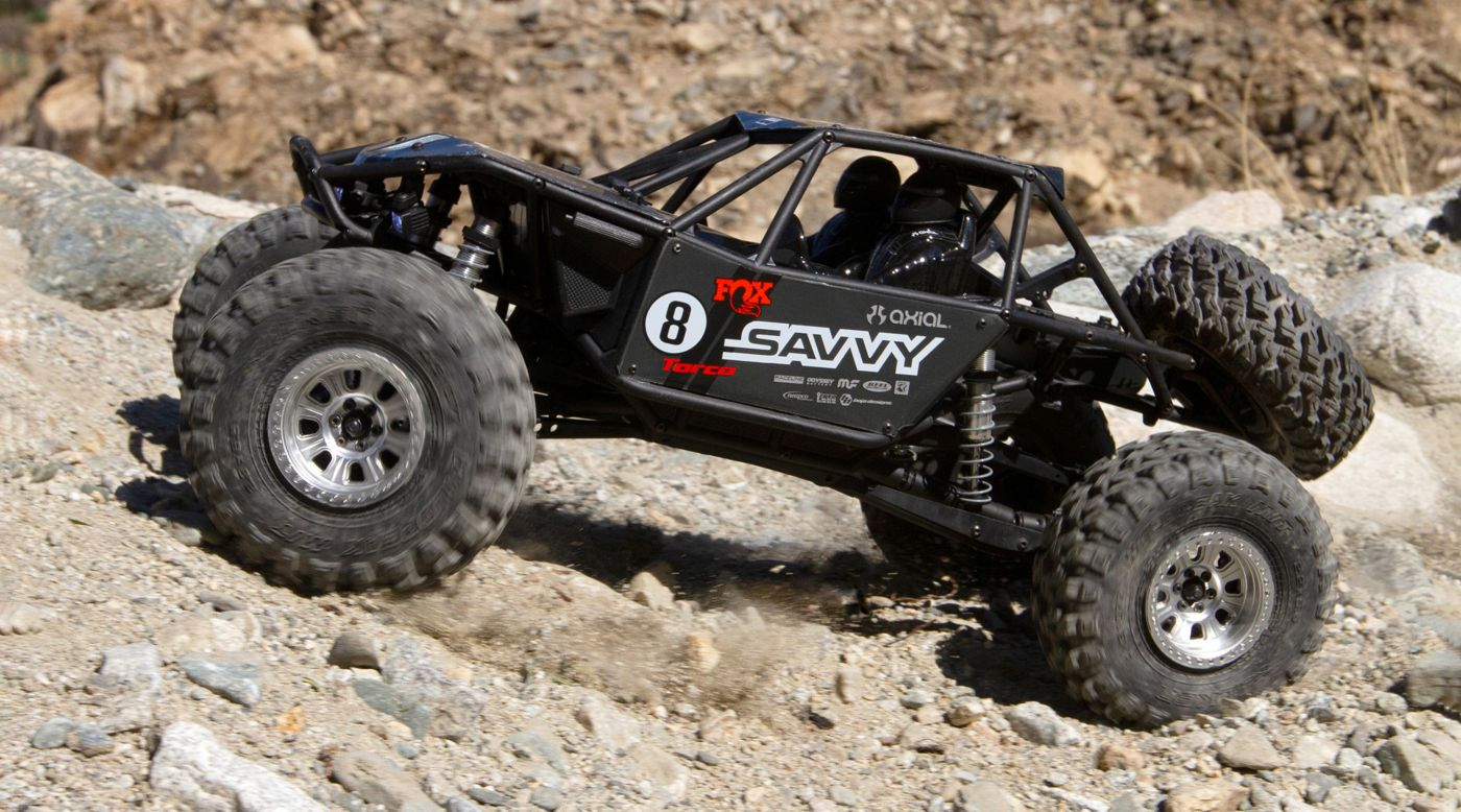 Axial AXI03016T2 - 1/10 RR10 Bomber 4WD Rock Racer RTR, Savvy