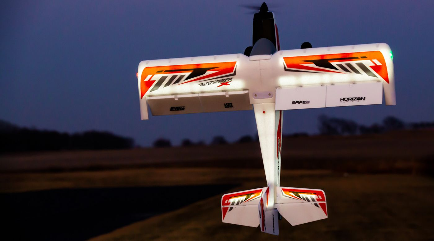 E-flite EFL13850 -Night Timber X 1.2m BNF Basic with AS3X & SAFE Select