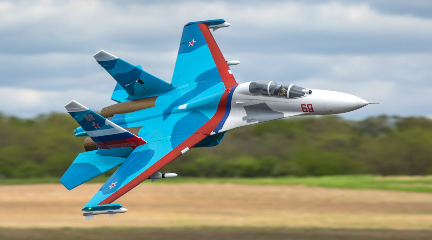 E-flite EFL01050 - SU-30 Twin 70mm EDF BNF Basic with AS3X & SAFE Select, 1100mm