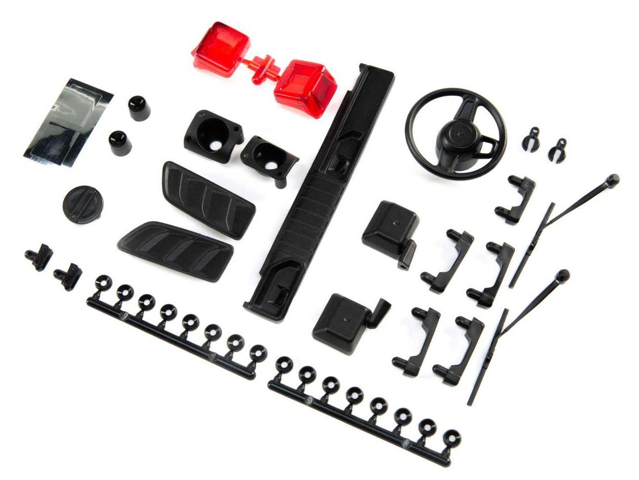 Axial AXI230022 - Exterior Body Detail Parts (Jeep JLU: SCX10 III)