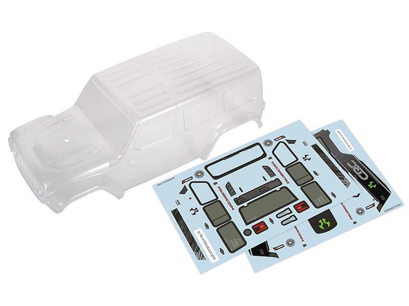 Axial AXI200000 - Clear Body, 2019 Jeep Wrangler JLU CRC (SCX24)
