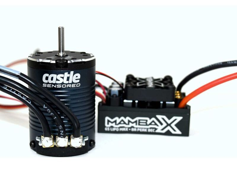 Castle CSE010015510 - Mamba X Waterproof ESC/1406-2850Kv Sensored Brushless Motor Combo: 4mm Bullet