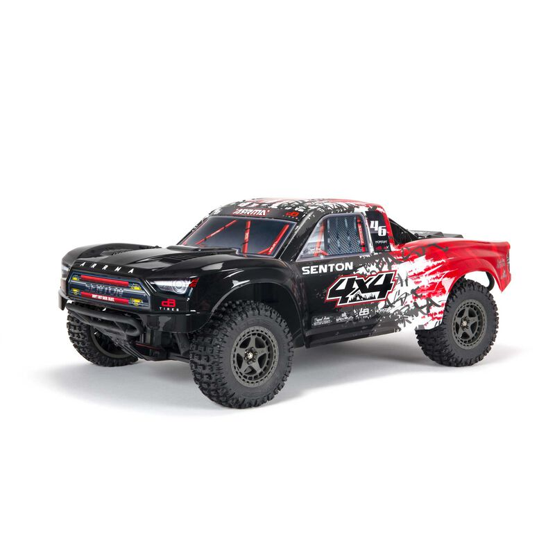 Arrma ARA4303V3T2 - 1/10 SENTON 4X4 V3 3S BLX Brushless Short Course Truck RTR, Red