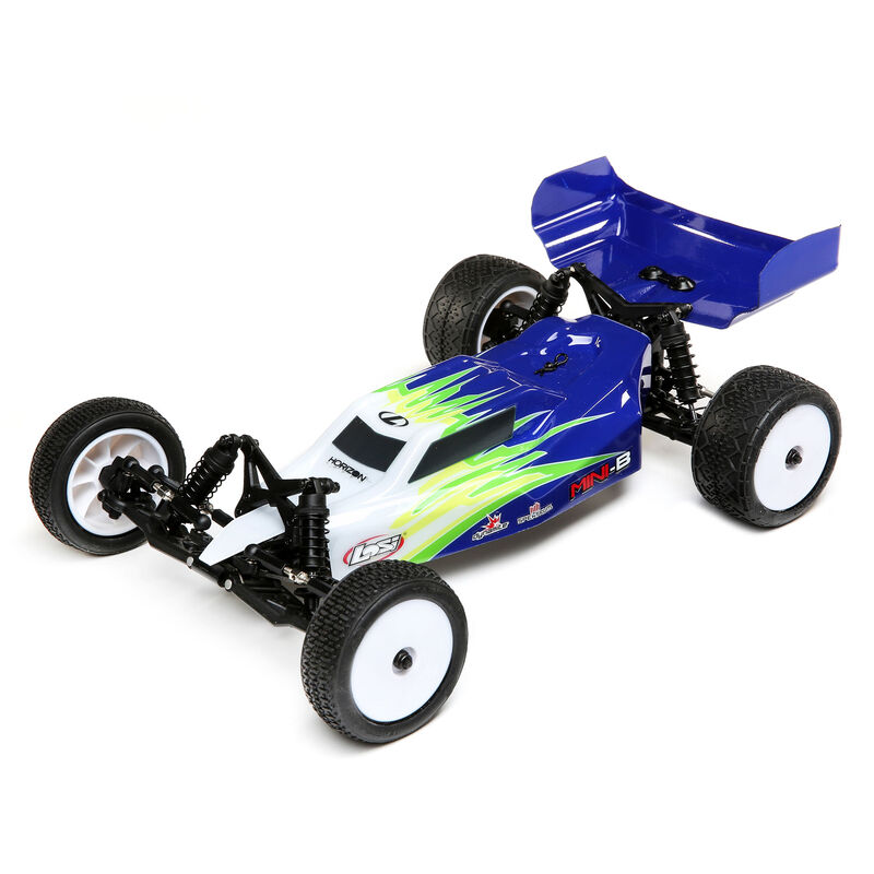 Losi LOS0106T1 - 1/16 Mini-B Brushed RTR 2WD Buggy, Blue/White