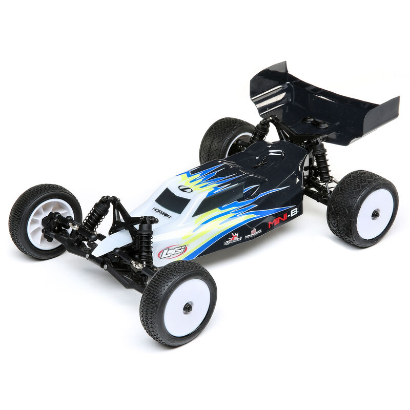 Losi LOS0106T2 - 1/16 Mini-B Brushed RTR 2WD Buggy, Black/White