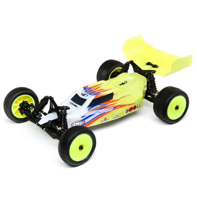 Losi LOS0106T3 - 1/16 Mini-B Brushed RTR 2WD Buggy, Yellow/White