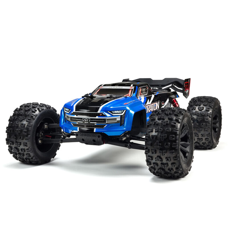 Arrma ARA8608V5T2 - 1/8 KRATON 6S V5 4WD BLX Speed Monster Truck with Spektrum Firma RTR, Blue