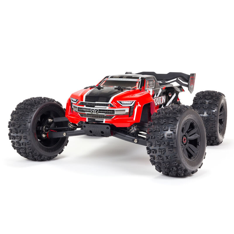 Arrma ARA8608V5T1 - 1/8 KRATON 6S V5 4WD BLX Speed Monster Truck with Spektrum Firma RTR, Red