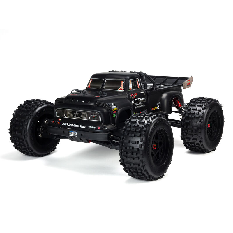 Arrma ARA8611V5T1 - 1/8 NOTORIOUS 6S V5 4WD BLX Stunt Truck with Spektrum Firma RTR, Black