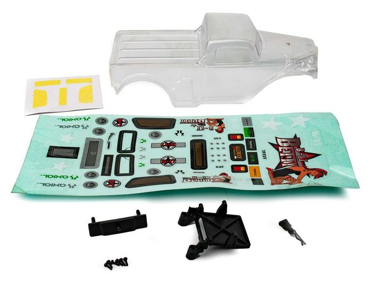 Axial AXI200003 - B-17 Betty Body, Clear & Precut (SCX24)