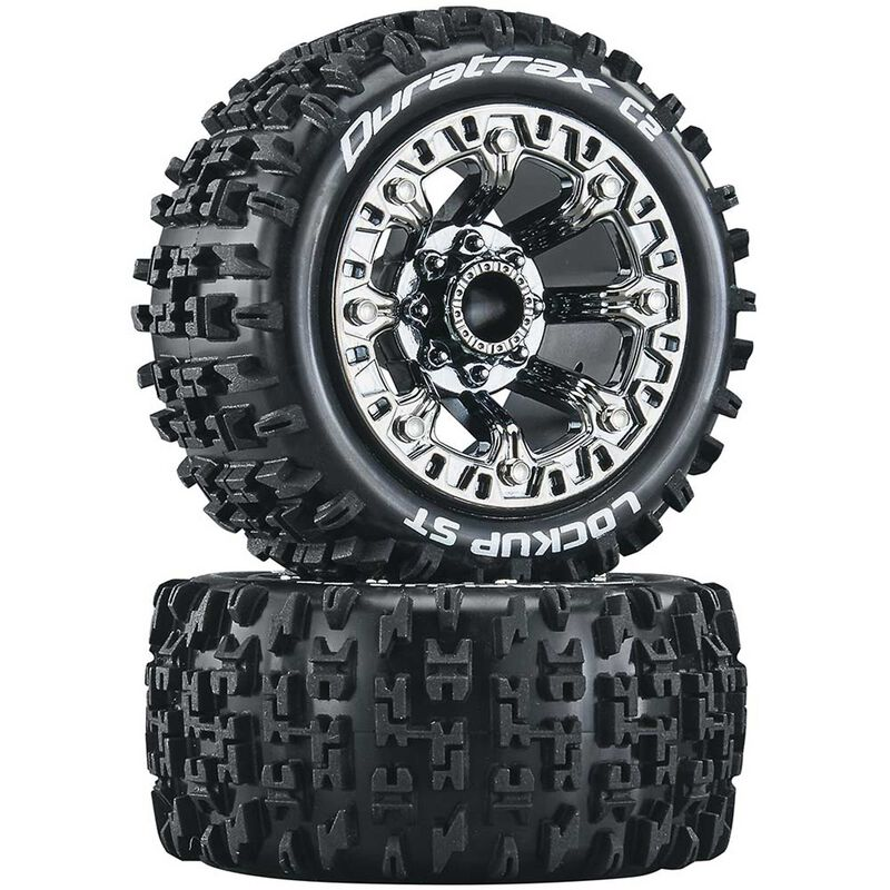 Duratrax DTXC5102 - Lockup ST 2.2 Tires, Chrome