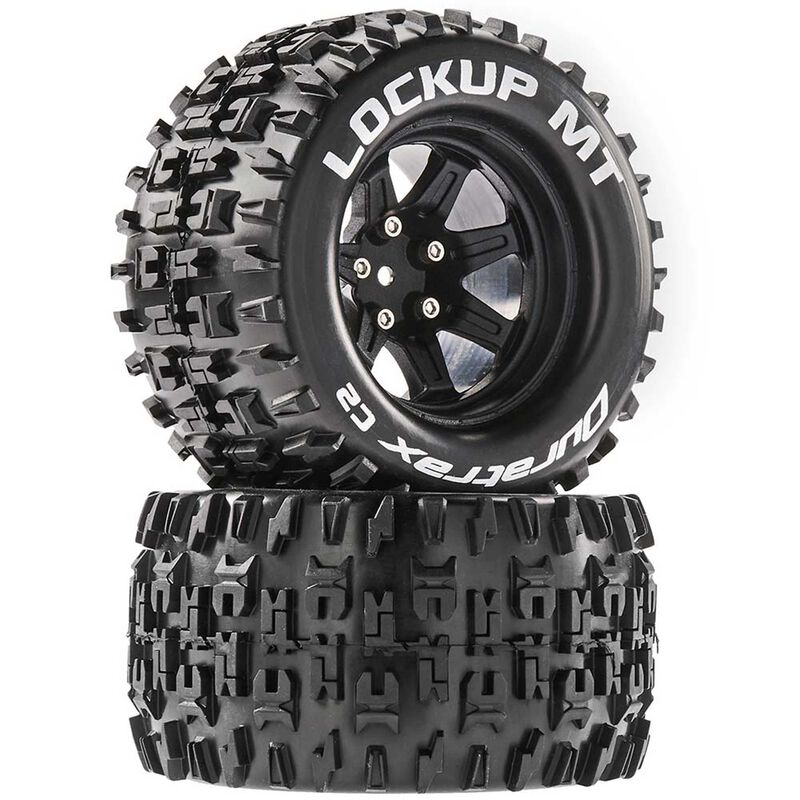 Duratrax DTXC5252 - Lockup MT 2.8 Mounted Tires, Black 14mm Hex